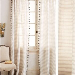 NWOT Anthropologie Grey and White Curtains